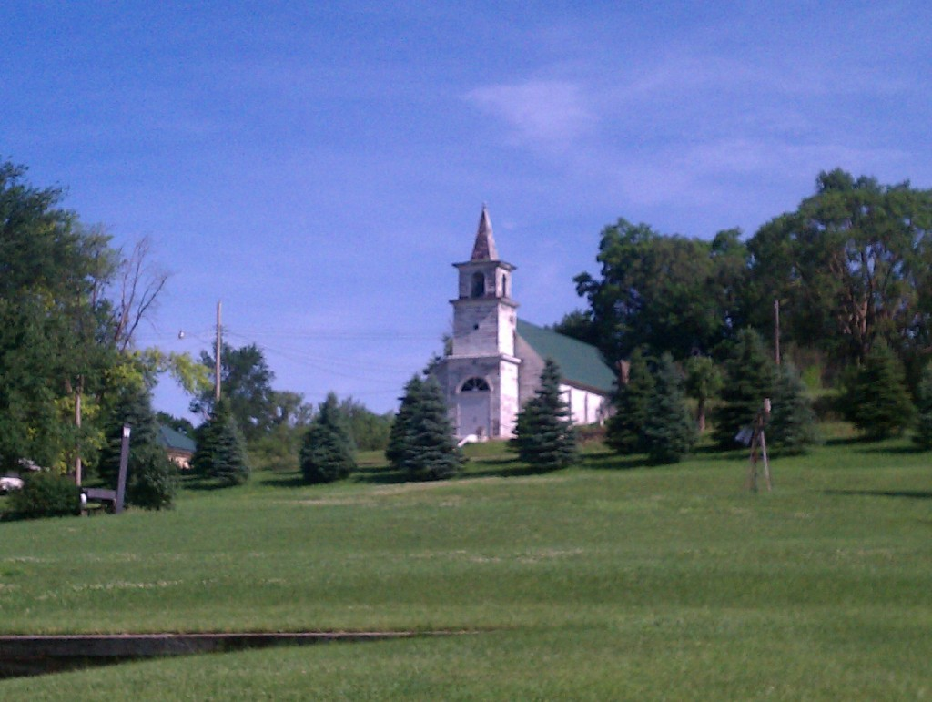 Just thought this was a beautiful example of a country church, many of which we saw along the way.