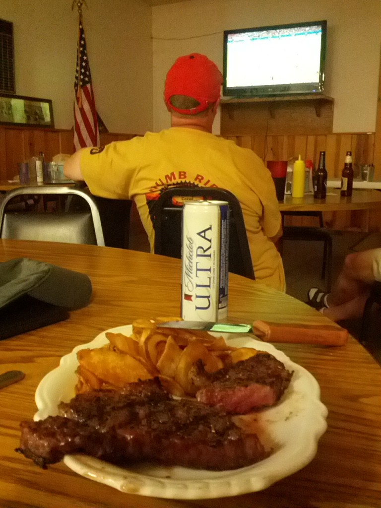 Dinner at the American Legion Hall.  Air conditioned and plenty of liquid refreshments (if you know what I mean)